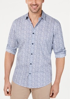 Alfani Men's Geo Static-Print Shirt, Created for Macy's