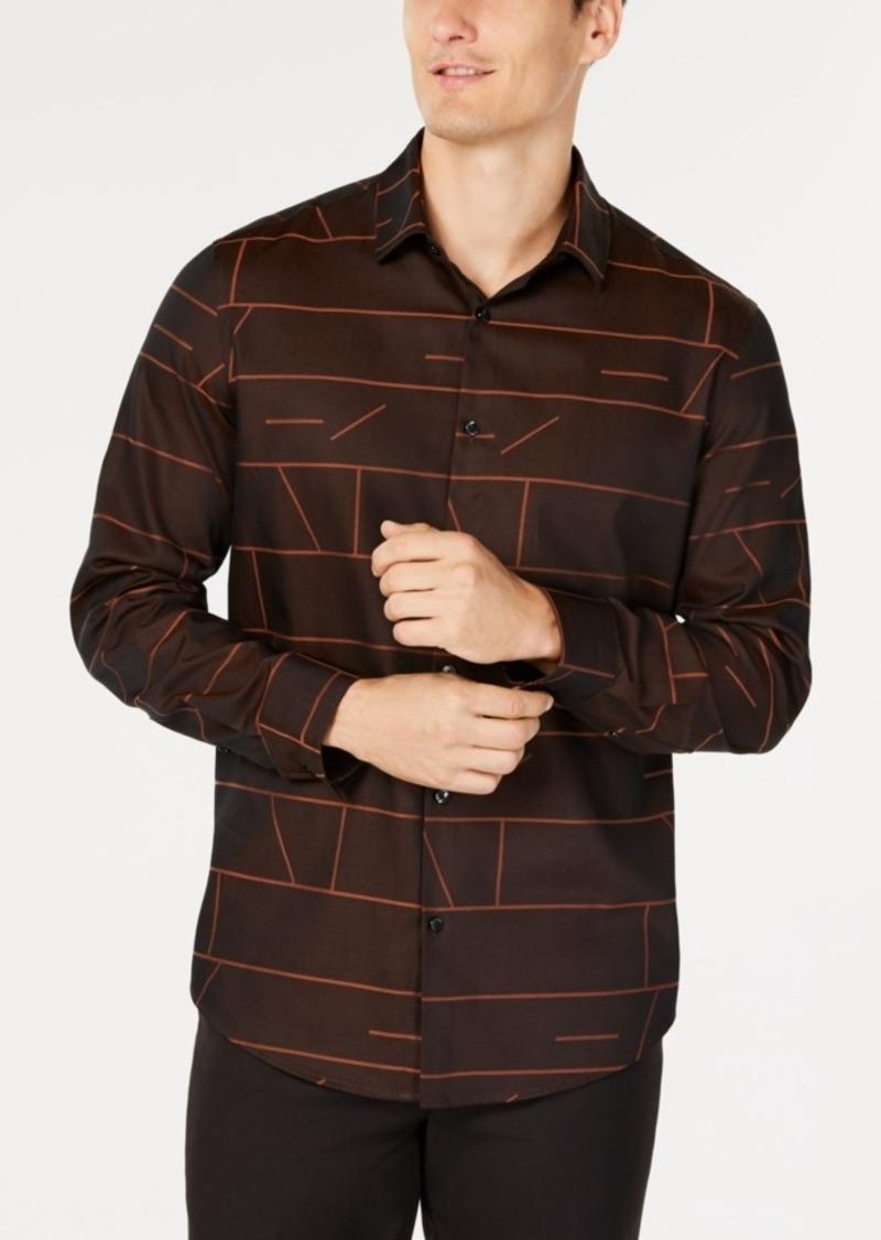 Alfani Men's Geometric Jacquard Shirt, Created for Macy's