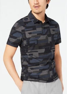 Alfani Men's Geometric Pattern-Print Polo, Created for Macy's