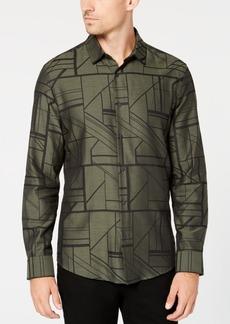 Alfani Men's Geometric Print Shirt, Created for Macy's