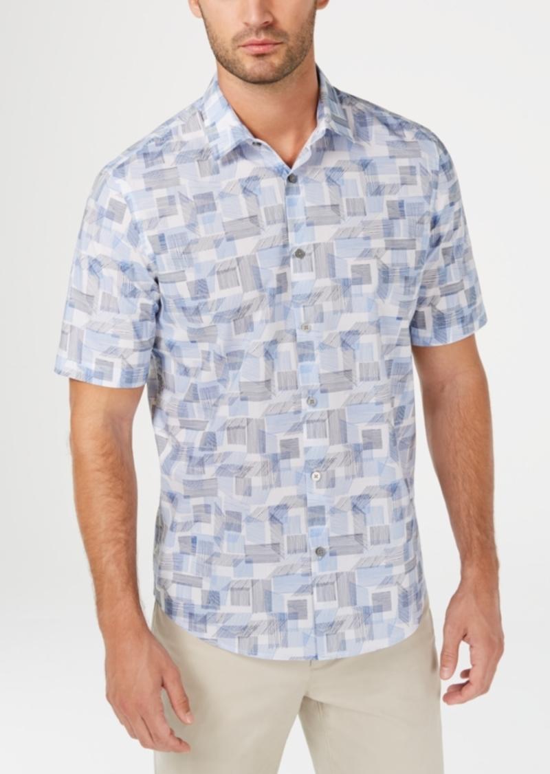 Alfani Men's Geometric-Print Shirt, Created for Macy's