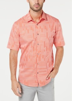 Alfani Men's Geometric Stripe Jacquard Shirt, Created for Macy's