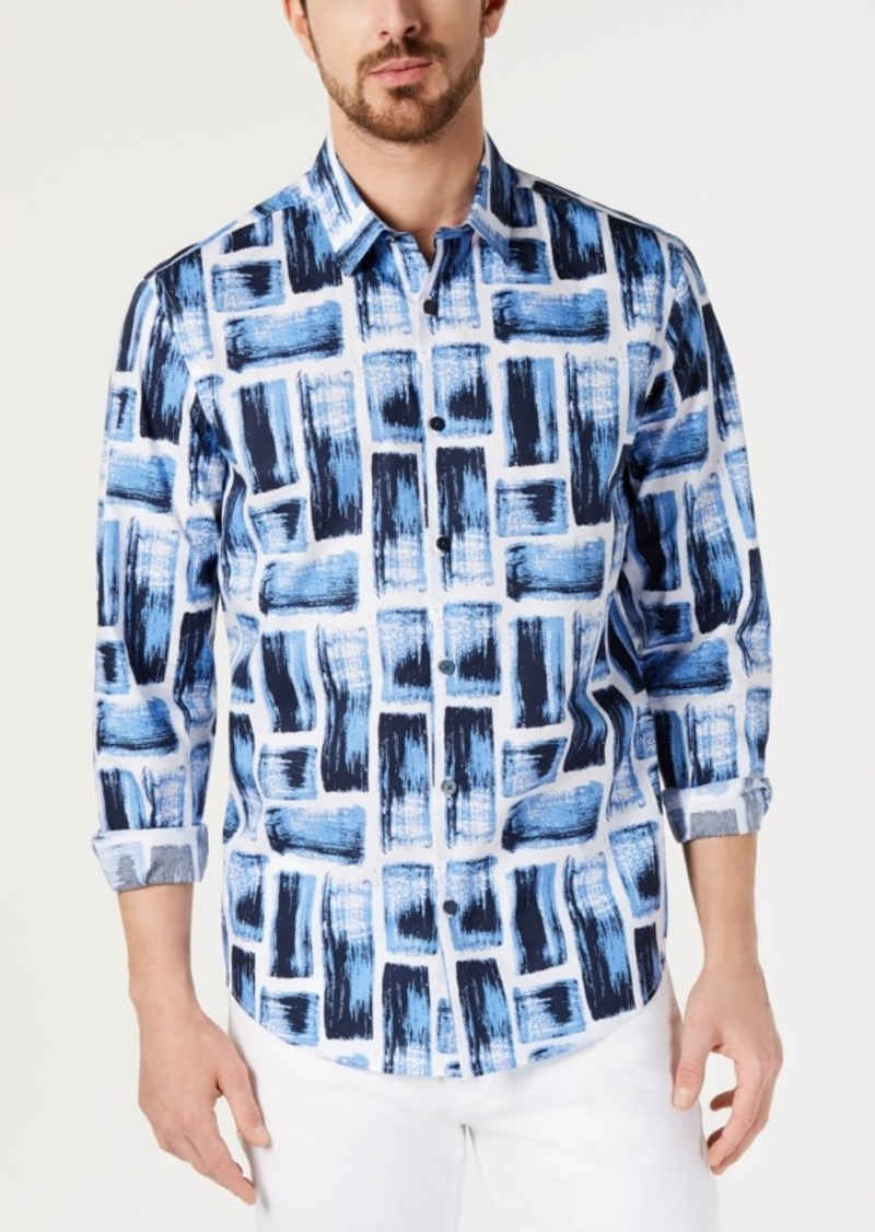 Alfani Men's Stretch Graphic Shirt, Created for Macy's