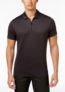 Alfani Men's Grid-Pattern Zip Polo, Created for Macy's