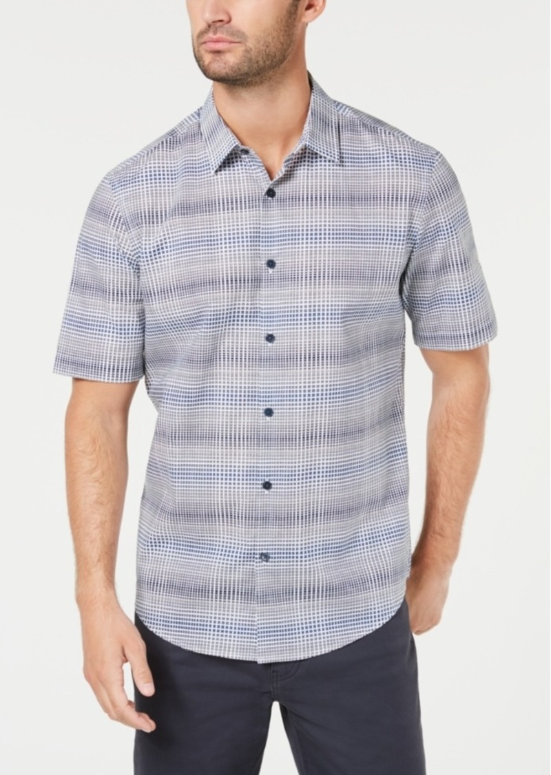 Alfani Men's Grid Plaid Shirt, Created for Macy's