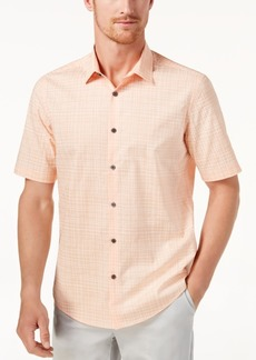Alfani Men's Grid-Print Shirt, Created for Macy's