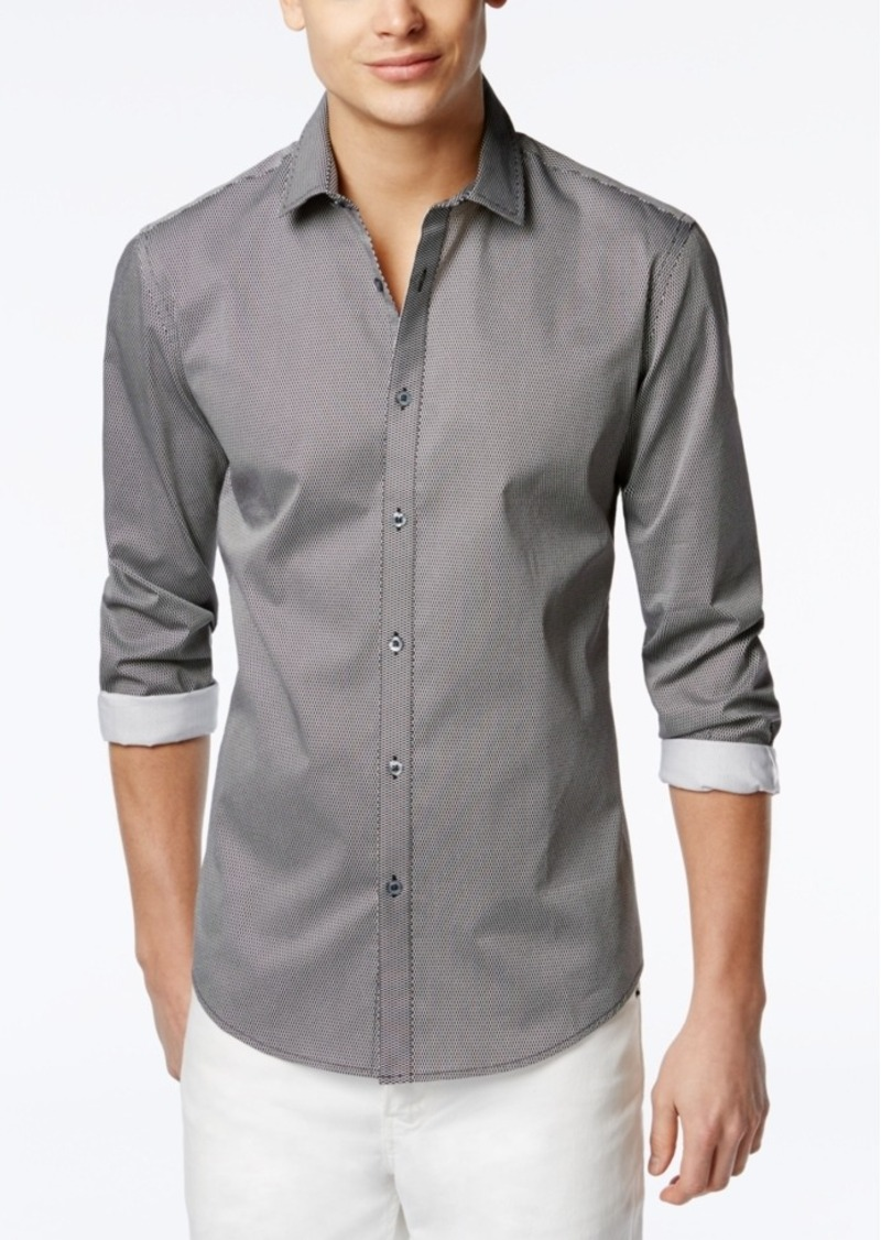 Alfani Hillsboro Geo-Print Slim-Fit Shirt, Only at Macy's