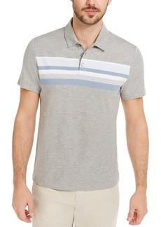 Alfani Men's Honeycomb Striped Polo Shirt, Created for Macy's