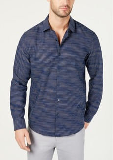 Alfani Men's Horizontal Dobby Shirt, Created for Macy's
