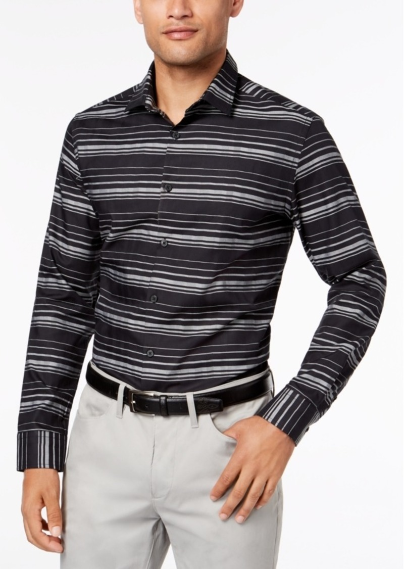 Alfani Men's Jessie Striped Shirt, Created for Macy's