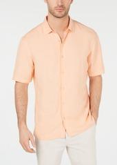 Alfani Men's Lagoon Linen Blend Shirt, Created for Macy's