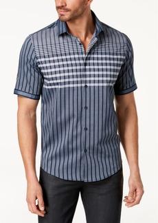 Alfani Men's Large Grid-Print Shirt, Created for Macy's