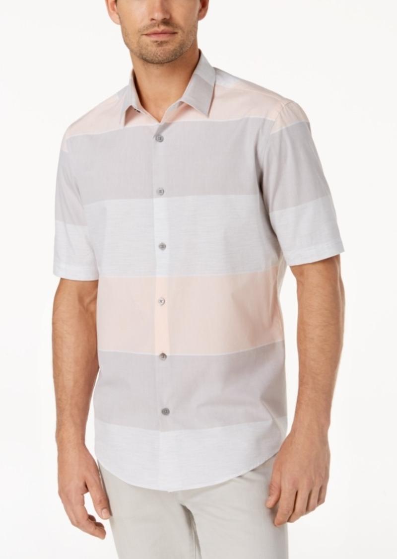 Alfani Men's Large Heathered Stripe Shirt, Created for Macy's