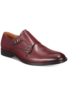 Alfani Men's Leather Sheridan Double-Monk-Strap Oxfords, Created for Macy's Men's Shoes