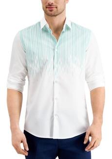 Alfani Men's Luke Drop Printed Cotton Shirt, Created for Macy's