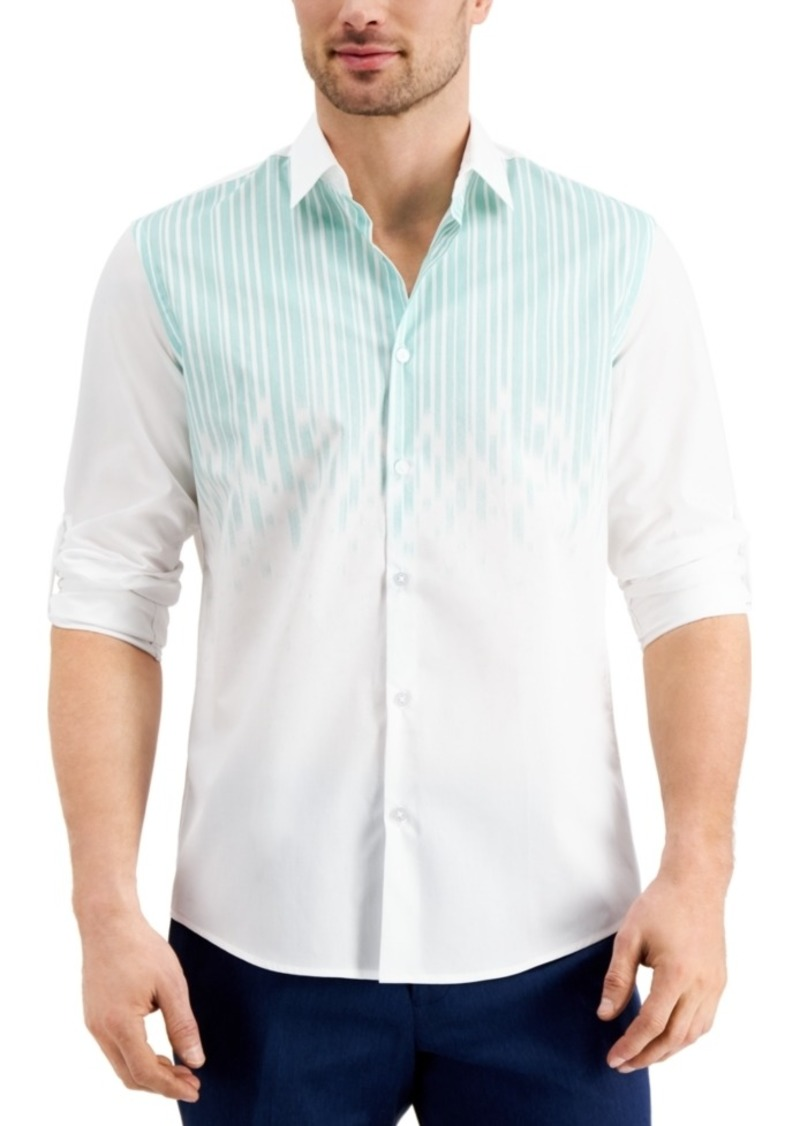 Alfani Men's Luke Drop Printed Cotton Shirt, Created for Macy's