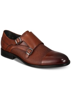 Alfani Men's Luxton Textured Double Monk Cap-Toe Loafers, Created for Macy's Men's Shoes