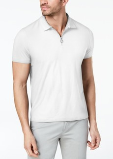 Alfani Men's Mesh-Front Zip Polo, Created for Macy's