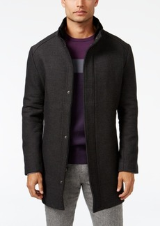 Alfani Men's Mock Collar Textured Top Coat, Created for Macy's