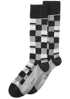 Alfani Men's Mosaic Boxes Dress Socks, Created for Macy's