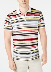 Alfani Men's Multi-Stripe Quarter-Zip Polo, Created for Macy's