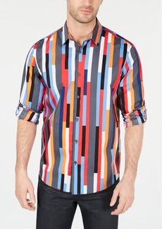Alfani Men's Multi-Stripe Shirt, Created for Macy's