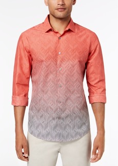 Alfani Men's Ombre Chevron-Print Shirt, Created for Macy's
