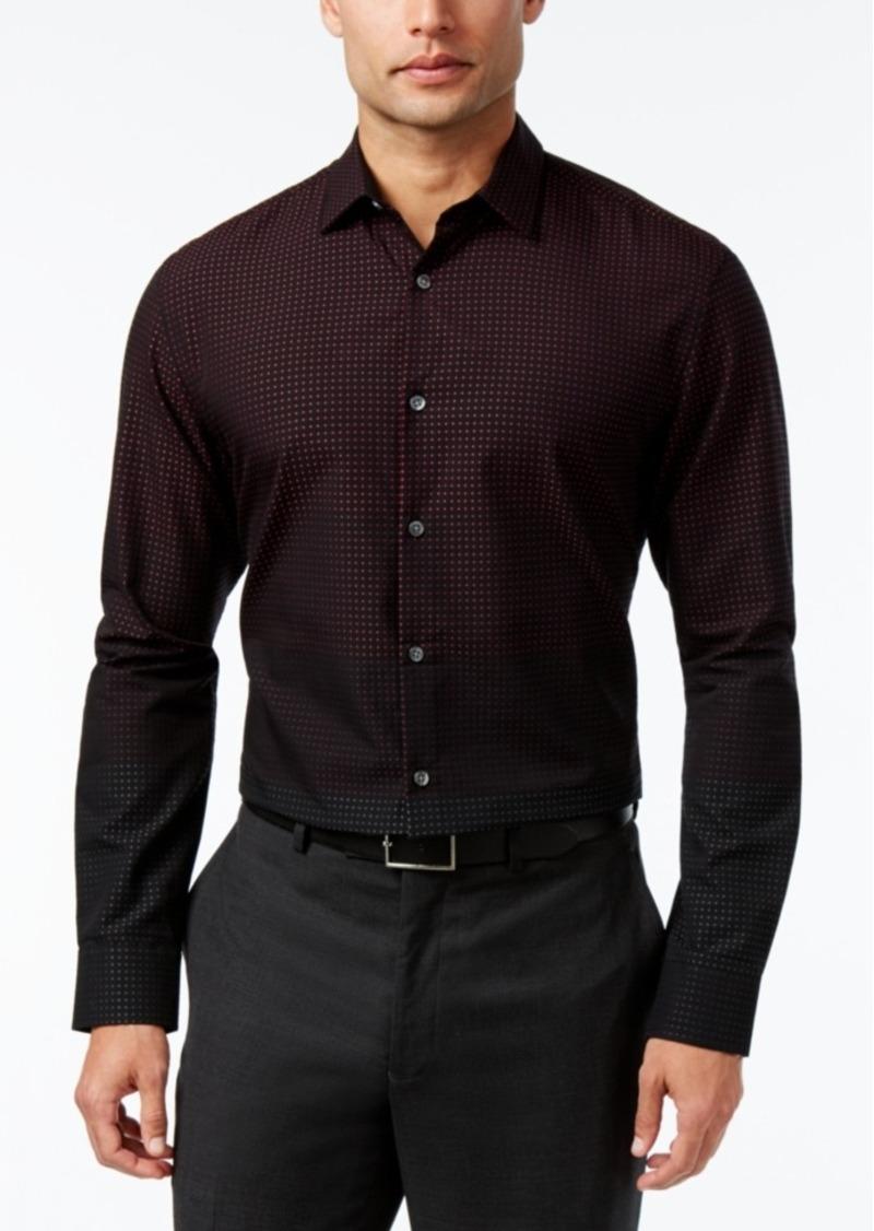 Alfani Men's Ombre Dot Long-Sleeve Shirt, Only at Macy's