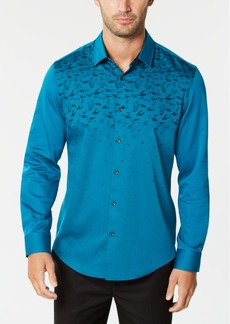 Alfani Men's Ombre Geo-Print Shirt, Created for Macy's