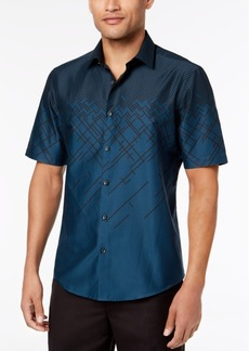 Alfani Men's Ombre Print Short Sleeve Shirt, Created for Macy's