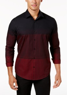 Alfani Men's Ombre Stripe Shirt, Created for Macy's