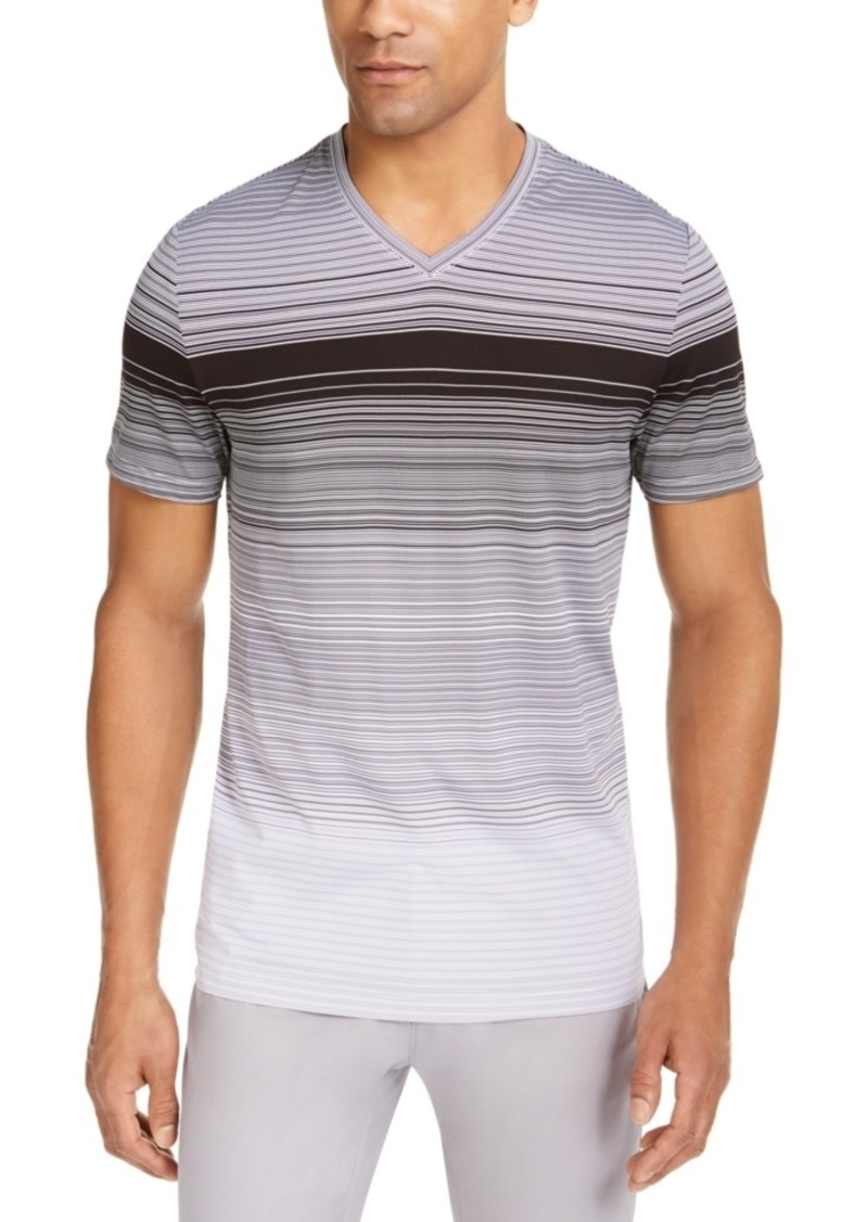 Alfani Men's Ombre Striped V-Neck T-Shirt, Created for Macy's