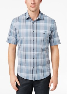 Alfani Men's Plaid Pocket Shirt, Created for Macy's