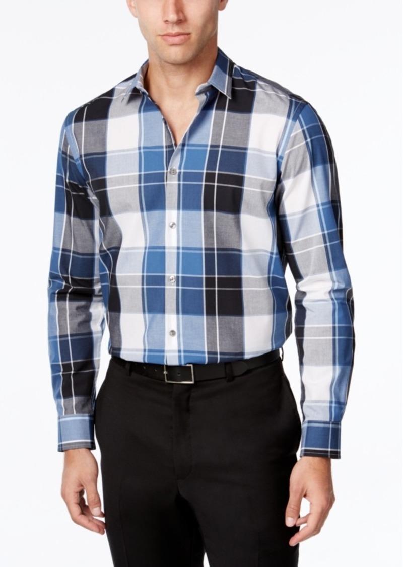 Alfani Men's Plaid Shirt, Classic Fit, Only at Macy's