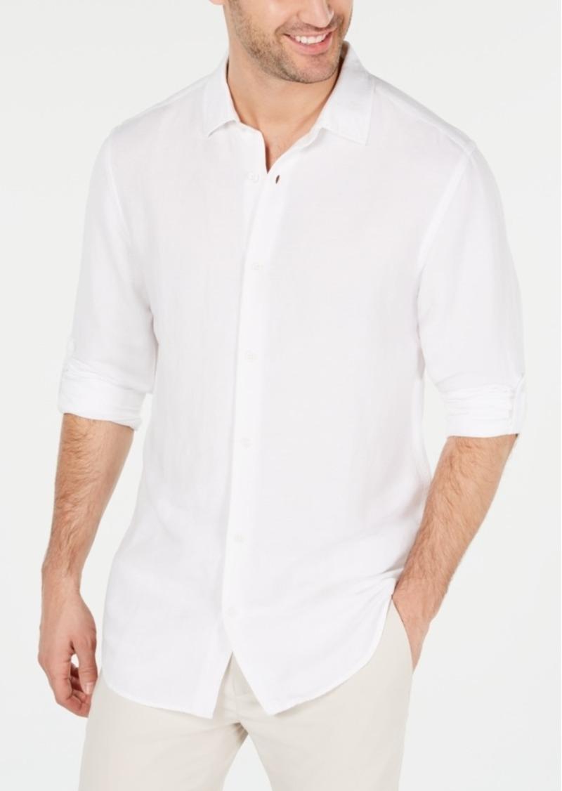 Alfani Men's Platoon Linen Shirt, Created for Macy's