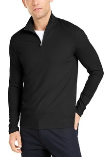 Alfani Men's Lightweight Ribbed Quarter-Zip Pullover, Created for Macy's