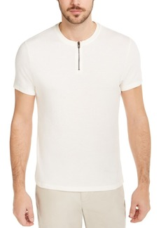 Alfani Men's Quarter-Zip Terry T-Shirt, Created for Macy's