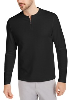 Alfani Men's Quarter-Zip Thermal Shirt, Created for Macy's
