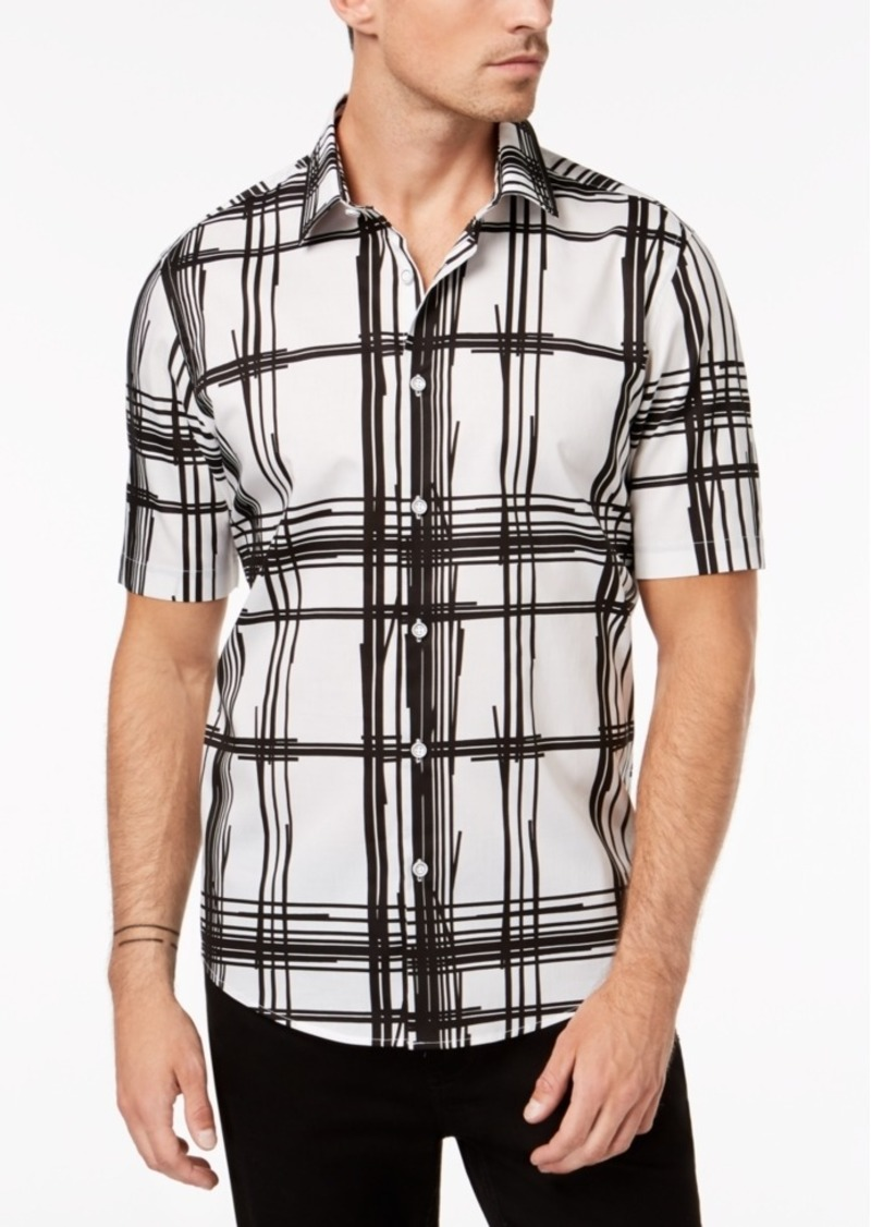 Alfani Men's Regular Fit Bold Broken Plaid Shirt, Created for Macy's