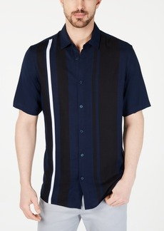 Alfani Men's Regular-Fit Bowler Stripe-Print Shirt, Created for Macy's