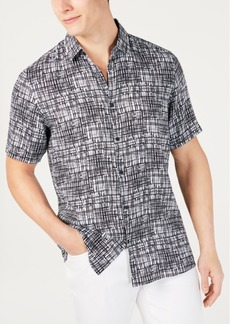 Alfani Men's Regular-Fit Brushstroke-Print Shirt, Created for Macy's