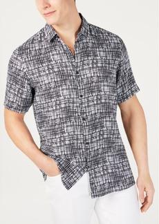 Alfani Men's Regular-Fit Brushstroke-Print Shirt, Created for Macy's