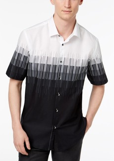 Alfani Men's Regular Fit Cityscape Printed Shirt, Created for Macy's