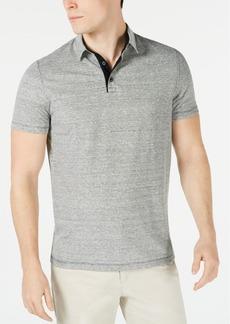 Alfani Men's Regular-Fit End-On-End Stripe Linen Blend Polo Shirt, Created for Macy's