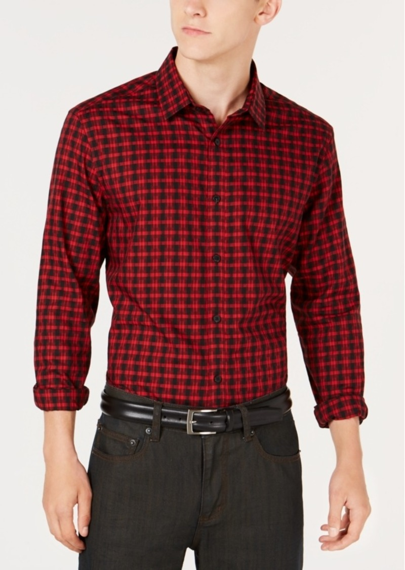 Alfani Men's Regular Fit Lewis Plaid Shirt, Created for Macy's
