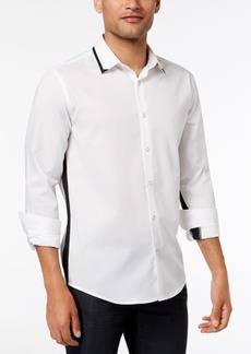 Alfani Men's Regular Fit Menlo Contrast Stretch Shirt, Created for Macy's