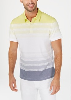 Alfani Men's Regular-Fit Ombre Stripe Polo, Created for Macy's