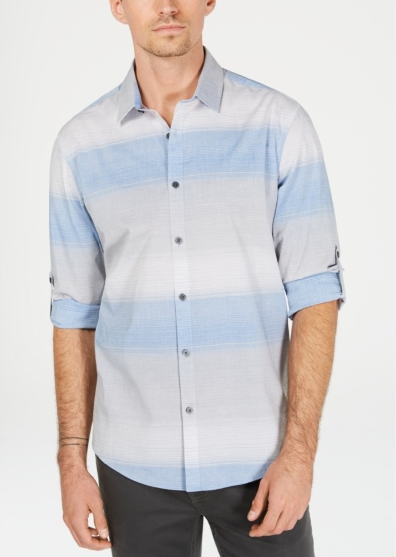 Alfani Men's Regular-Fit Ombre Stripe Shirt, Created for Macy's