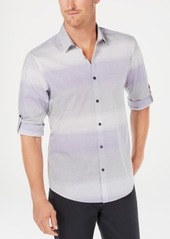 Alfani Men's Regular-Fit Ombre Stripe Shirt, Created for Macy's