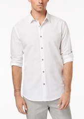 Alfani Men's Regular Fit Ottoman Textured Shirt, Created for Macy's